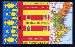Tarjeta *Radioaficionado* *QSL Especial Comunidad Valenciana...* Meds: 93x150 Mms. Ver Dorso. - Radio Amateur