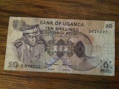 BANQUE UGANDA-10 SHILLINGS- - Uganda