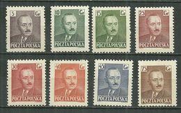 POLAND MNH ** 589-596 Président Boleslaw BIERUT - 1944-.... République