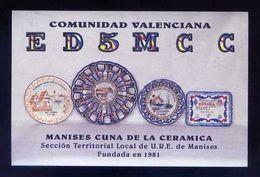 Tarjeta *Radioaficionado* *ED-5-MCC. Manises...* Meds: 95x144 Mms. Ver Dorso. - Radio Amateur