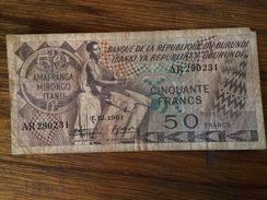 BANQUE BURUNDI-50 FRANCS - Burundi