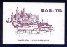 Tarjeta Postal *Radioaficionado* *EA6-TB. Palma, Baleares..* Meds: 103x150 Mms. Ver Dorso. - Radio Amateur