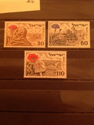 Israel 1952 4th Anniversary Of Independence Mint SG 65-7 Yv 54-6 - Neufs (sans Tabs)