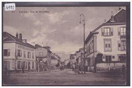 DISTRICT D'YVERDON - YVERDON - RUE DE NEUCHATEL - B ( ADHERENCES AU DOS ET PETIT TROU COIN HAUT GAUCHE ) - VD Vaud