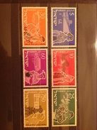 Israel 1955 20th Anniversary Of Youth Immigration Scheme Mint SG 104-9 Yv 86-91 - Neufs (sans Tabs)