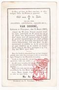 DP Notaris Burgemeester Joannes A. Van Doorne ° Poucques Poeke Aalter 1805 † 1870 - Images Religieuses
