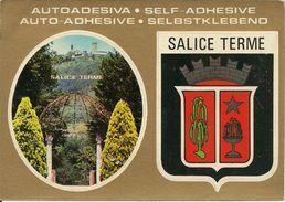 Godiasco-Salice Terme (Pavia) Autoadesiva Con Scorcio Panoramico E Stemma Della Località Termale - Pavia