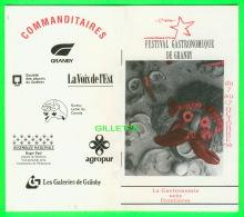 PROGRAMME - 17e FESTIVAL GASTRONOMIQUE DE GRANBY, QUÉBEC  1993 - 26 PAGES - - Programmes