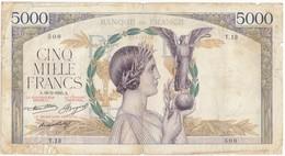 5000 F Victoire, Type 1934 Taille Douce, F46.02, P82, 16/05/1935, T.13, B- - 1871-1952 Anciens Francs Circulés Au XXème