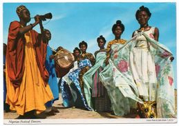 NIGERIA - NIGERIAN FESTIVAL DANCERS (PUBL.JOHN HINDE) / THEMATIC STAMP-BUTTERFLY - Nigeria