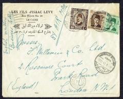 1941   Air Mail Letter To UK    Egyptian Censor - Egypt