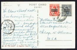 1954   Postcard To USA  - Egyptian Censor Mark - Covers & Documents