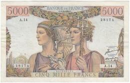 5000 F Terre Et Mer, Type 1949, F48.01, P131, 10/03/1949, A.14, TB - 1871-1952 Frühe Francs Des 20. Jh.