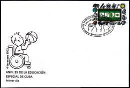 2017-FDC-3 CUBA 2017 FDC MNH. 55 ANIV DE LA EDUCACION ESPECIAL. SPECIAL EDUCATION. - FDC