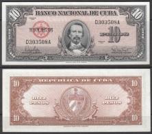 1960-BK-223 CUBA 1960 10$ CARLOS MANUEL DE CESPEDES UNC - Cuba
