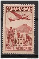 Madagascar - 1944 - Poste Aérienne N°Yv. 62 - Avion 100f - Neuf Luxe ** / MNH / Postfrisch - Madagaskar (1889-1960)