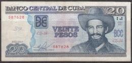 """2013-BK-16 CUBA 20$ 2013 CAMILO CIENFUEGOS. REPLACEMENT REEMPLAZO """"CZ"""". USADO. - Cuba"""