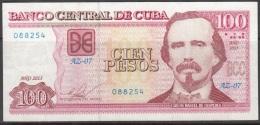 "2013-BK-17 CUBA 100$ 2013 CARLOS MANUEL DE CESPEDES. REPLACEMENT REEMPLAZO ""AZ"". XF. - Cuba"