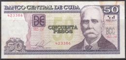 "2014-BK-31 CUBA 50$ 2014 CALIXTO GARCIA. REPLACEMENT REEMPLAZO ""BZ"". USADO. - Cuba"