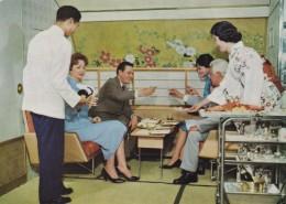 Japan Airlines DC-8 Kiku-No-Ma Lounge Food Service C1960 Vintage Postcard - 1946-....: Moderne