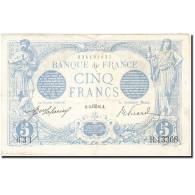 France, 5 Francs, 1909-1912, 1916-10-14, KM:70, TTB, Fayette:2.44 - 1871-1952 Anciens Francs Circulés Au XXème