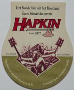 Sous-bock HAPKIN Bière Blonde Du Terroir Het Blonde Bier Uit Het Houtland Louwaege Kortemark (hache) Bierviltje (CX) - Sous-bocks