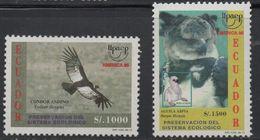 R214. ECUADOR - 1995.-.YV#: 1344A-45B.-.MNH - AMERICA UPAEP- BIRD - Ecuador