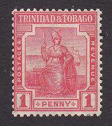 Trinidad And Tobago, Scott #13, Mint Hinged, Britannia, Issued 1921 - Trinidad & Tobago (...-1961)