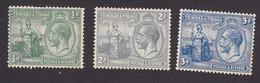 Trinidad And Tobago, Scott #21, 24-25, Mint Hinged, Britannia And King George V, Issued 1922 - Trinidad & Tobago (...-1961)