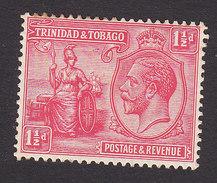 Trinidad And Tobago, Scott #23, Mint Hinged, Britannia And King George V, Issued 1922 - Trinidad & Tobago (...-1961)