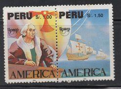 R220. PERU - 1992.-.NOT ISSUED.-.MNH - AMERICA UPAEP- DISCOVERY OF AMERICA 500thANNIVERSARY- COLUMBUS-PERFORATE - Peru