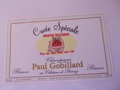 CHAMPAGNE PAUL GOBILLARD  CUVEE SPECIALE BRISTOL BULLDOGS    CHIEN   ****  RARE     A   SAISIR ***** - Champagne