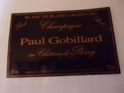 CHAMPAGNE PAUL GOBILLARD  BLANC DE BLANCS   CARTE NOIRE   ****  RARE     A   SAISIR ***** - Champagne