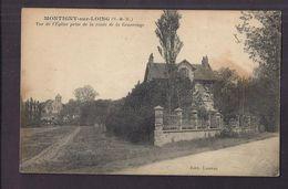 CPA 77 - MONTIGNY-sur-LOING - Vue De L'Eglise Prise De La Route De La Genevraye - GROS PLAN VILLA 1er Plan - Autres Communes