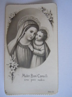 Mater Boni Consili Image Pieuse Holy Card Santini Italy  GN - Images Religieuses