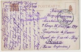 Depot De Grand Alny Camp De Prisonniers Allemand Près Rouen Tuck 895 Envoi De Poremba Poland Pologne - Altri Comuni
