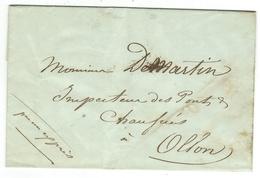 Vieux Papiers // Document Historique Adressé à Ollon - Documents Historiques