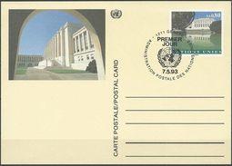 UNO GENF 1993 MI-NR. P 10 Postkarte / Ganzsache EST - Genf - Büro Der Vereinten Nationen