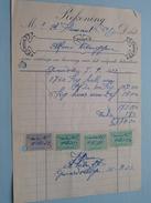 Aannemer Alfons Verbruggen GERRARDSBERGEN ( Factuur / Tax ) > Mr. Flamant : Anno 1922 ! - Petits Métiers