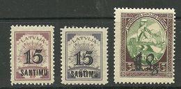LETTLAND Latvia 1927 Michel 114 - 116 * - Latvia