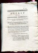 Décret -  - Relatif A L' Administration Et à La Vente Des Biens Des Rebelles Lyonnais - Décrets & Lois