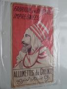 Allumettes Du CHEIKH ( Fabriqué En Belgique Impregnées ( Reclame In Papier ) ! - Matchbox Labels