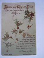 Allons Au Coeur De Jésus Prière St. François De Sales Image Pieuse Holy Card Santini Bouasse Jne 3713 - Devotion Images