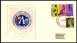 Australien / Australia: 'Apollo-15 In Space - MSFN Station Honeysuckle, 1971' - Briefe U. Dokumente