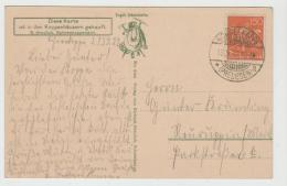 Inf320 / Schnitter-Ausgabe Auf Ansichtskarte Schneekoppe 1922 (Riesengebirge, Wetterwarte) - Storia Postale