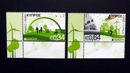 Zypern 1348/9 **/mnh, EUROPA/CEPT 2016, Umweltbewußt Leben - Chypre (République)
