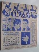 """KALENDER 1965 - MUSIC-FAN World Copy Right """" RUYS Antwerpen """" ( *** PRACHTIG *** ) Suppl. Jan.1965 ( Zie Foto's ) ! - Objets Dérivés"""