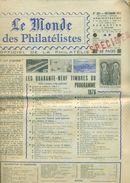 LE MONDE DES PHILATELISTES N)282 Décembre 1975 Avec Surcharge SPECIMEN En Rouge.rare - Français (àpd. 1941)