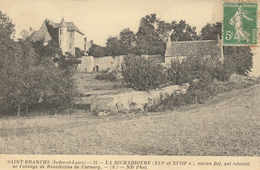 SAINT BANCHS (37)  LA RICHARDIERE ANCIEN FIEF QUI RELEVAIT DE L'ABBAYE DE BENEDICTINS DE CORMERY - France