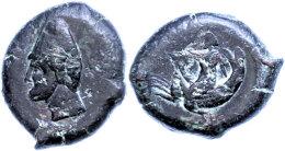 Skylletion, Æ (6,82g), 344-336 V. Chr., Av: Männlicher Kopf Nach Links, Rev: Skylla, SNG ANS 800, Ss.... - Antique